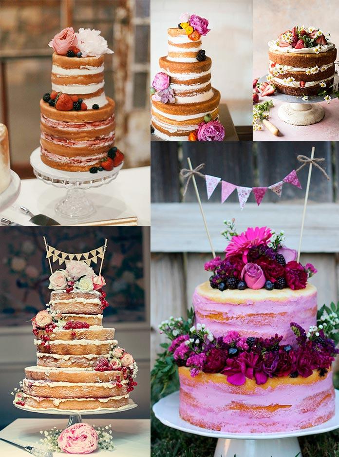 Bolo de Festa de 15 Anos Naked Cake