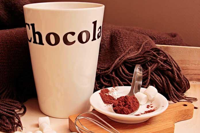 Chocolate Quente com Morango
