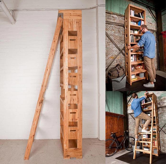 Estante Escada Marcenaria Criativa