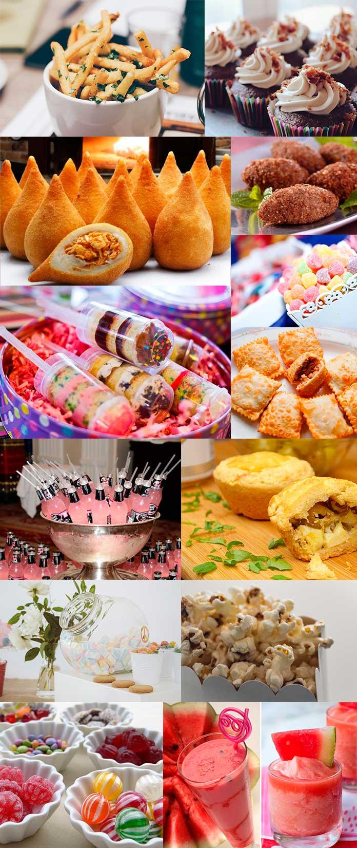 Inspirações de Comidas e Bebidas para Festa de 15 Anos Simples
