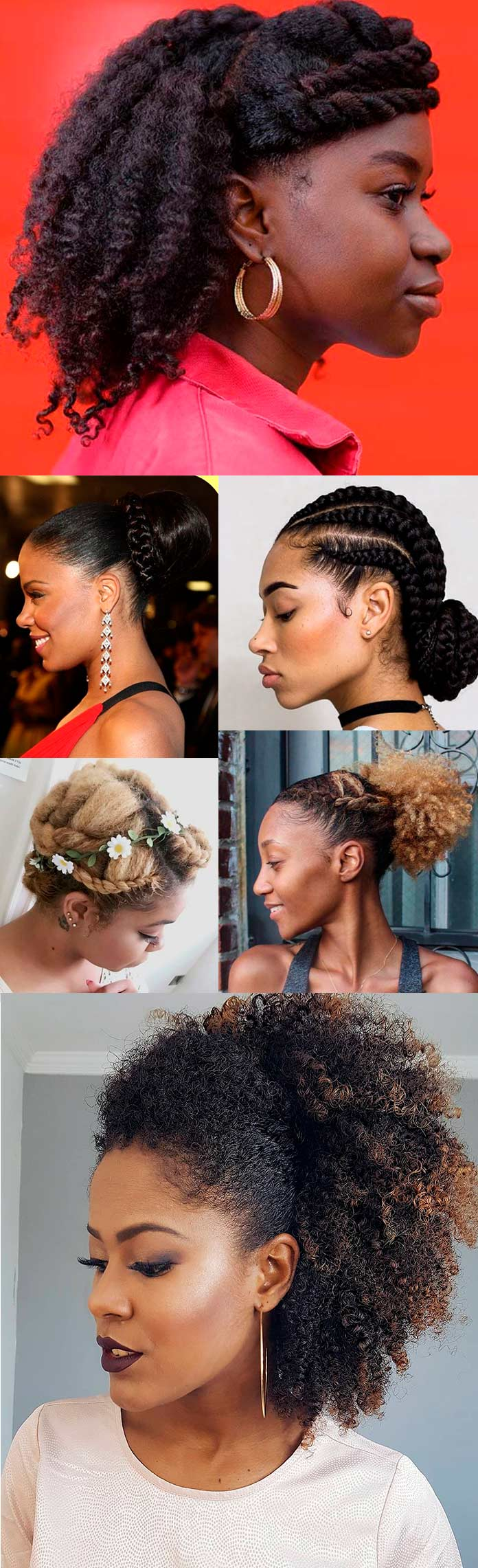 Inspirações de Penteados para Debutantes de Cabelo Crespo