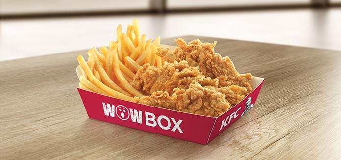 KFC Preços Wow Box
