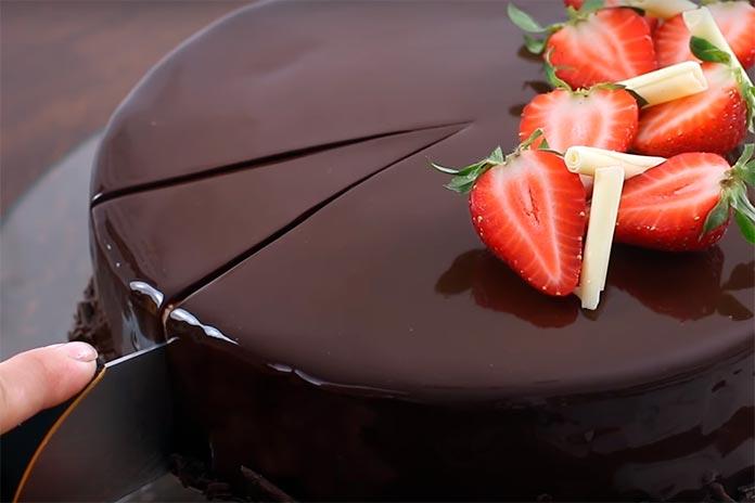 Bolo de Vidro de Chocolate