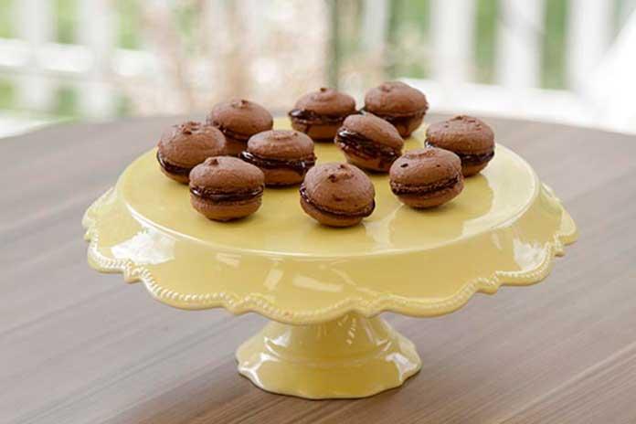 Macarons de Chocolate Trufado e Macarons de Framboesa Bake Off Brasil
