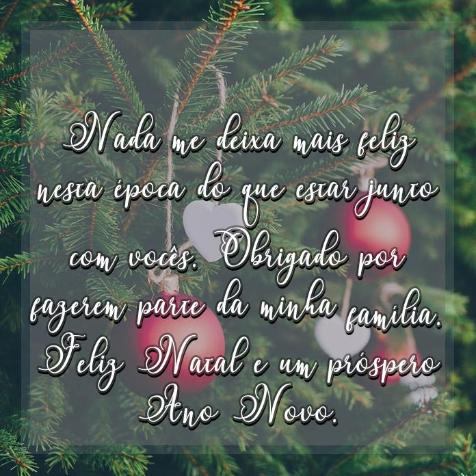 Mensagem de Natal e Ano Novo 2018 para a Família