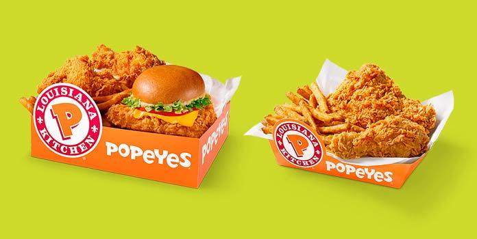 Popeyes Preços Box