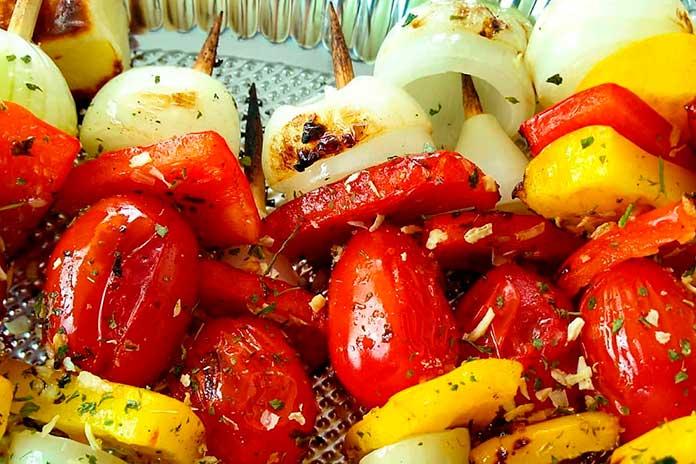 Receitas de Espetinhos de Legumes