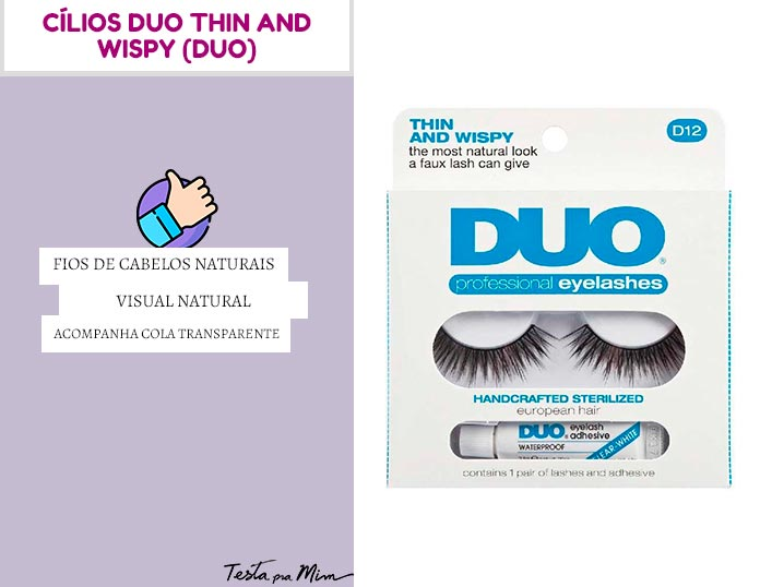 Cílios Duo Thin And Wispy DUO