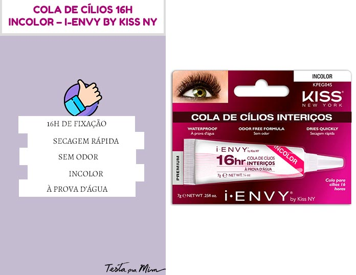 Cola de Cílios 16h Incolor I-Envy By Kiss Ny