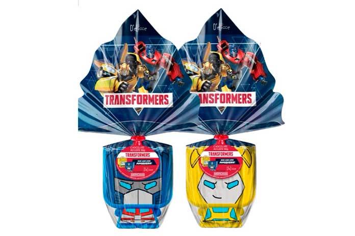 Ovo de Páscoa Transformers (80g e 90g)