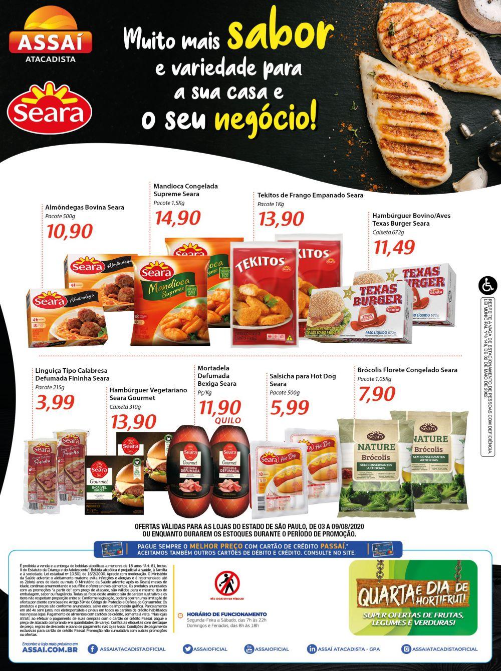 Encarte Assaí Ofertas de Carnes 03/08/2020 02